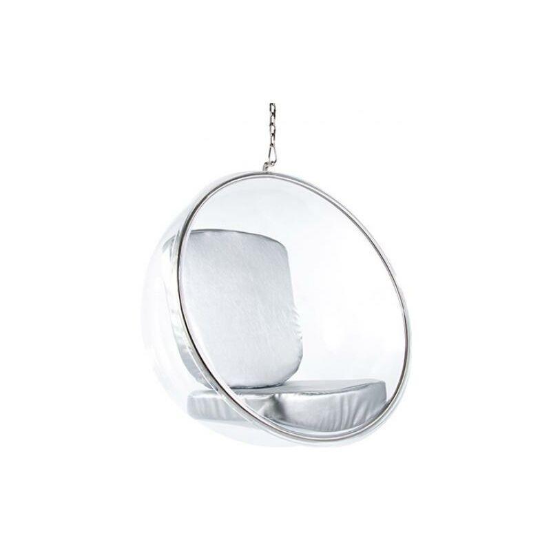 Privatefloor - Fauteuil suspendu Bubble Chair Eero Aarnio Argenté