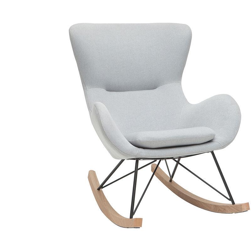 Miliboo - Rocking chair design gris clair ESKUA