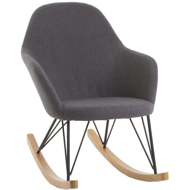 Atmosphera - Rocking chair Ewan - Gris - Gris