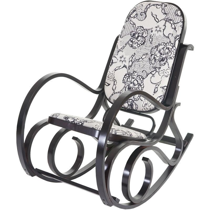 HHG Rocking-chair M41, fauteuil à bascule en bois, fauteuil de relaxation ~