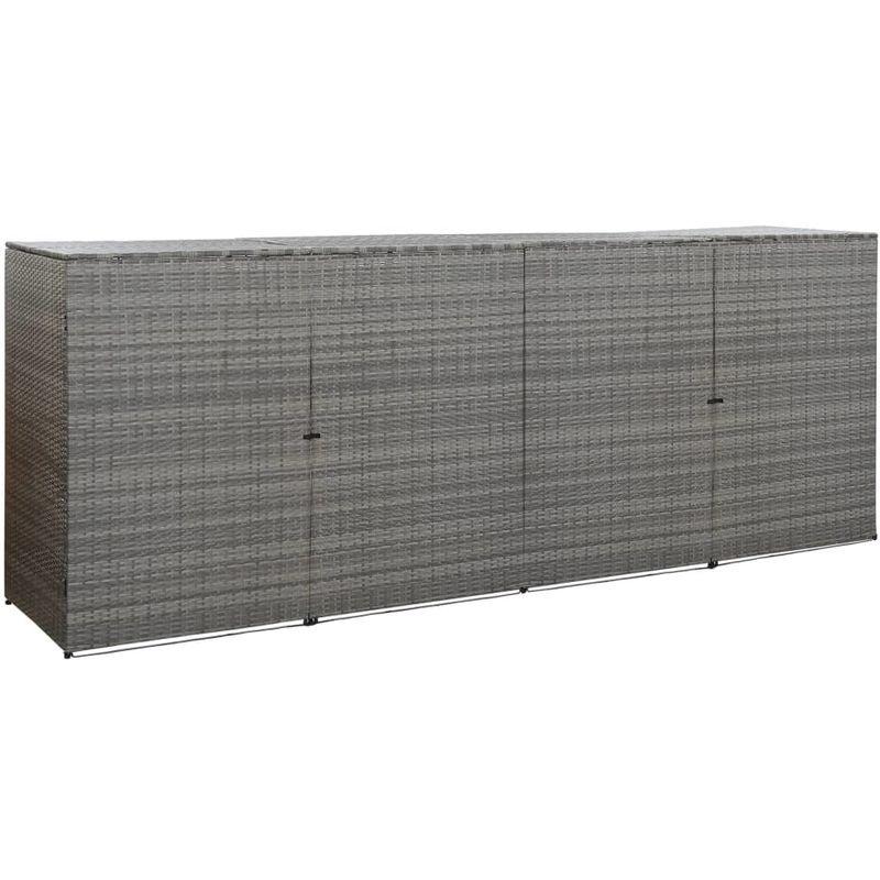 Topdeal VDTD45644_FR Abri à quatre poubelles Anthracite 305x78x120cm