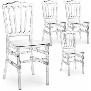 Mobilier Deco - NAPOLEON - Lot de 4 chaises transparentes - Publicité