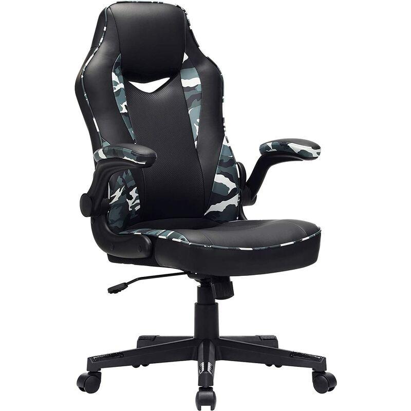 Songmics - Chaise de bureau, Fauteuil gamer, Siège ergonomique
