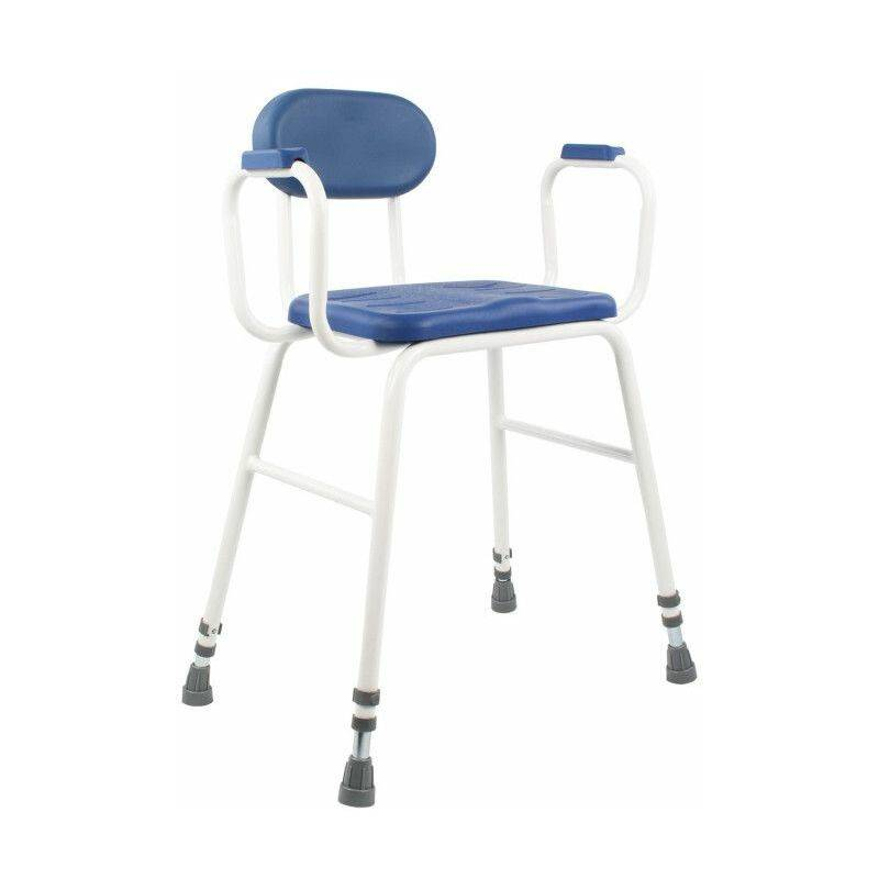 SELF CONFORT Chaise de douche ou cuisine assise haute - 52 à 67 cm - Bleu - SELF
