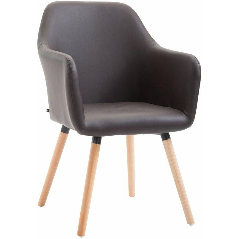 PAAL OFFICE FURNITURE Chaise de salle à manger Picard V2 similicuir marron Nature - PAAL