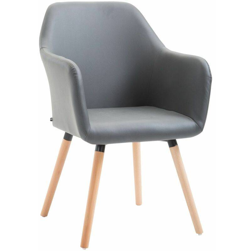 PAAL OFFICE FURNITURE Chaise de salle à manger Picard V2 similicuir gris Nature - PAAL OFFICE
