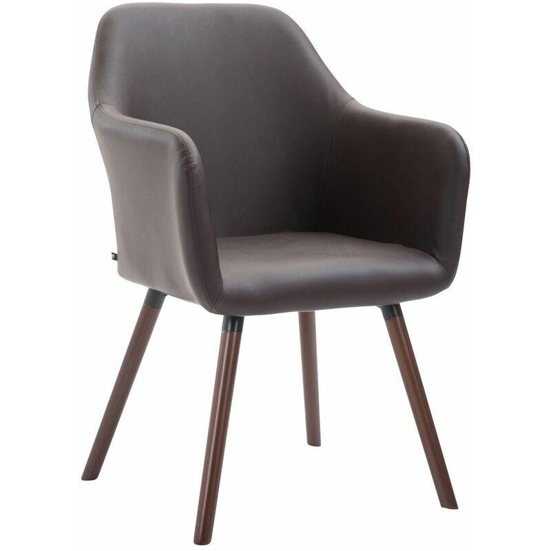 PAAL OFFICE FURNITURE Chaise de salle à manger Picard V2 similicuir marron Noix (chêne)