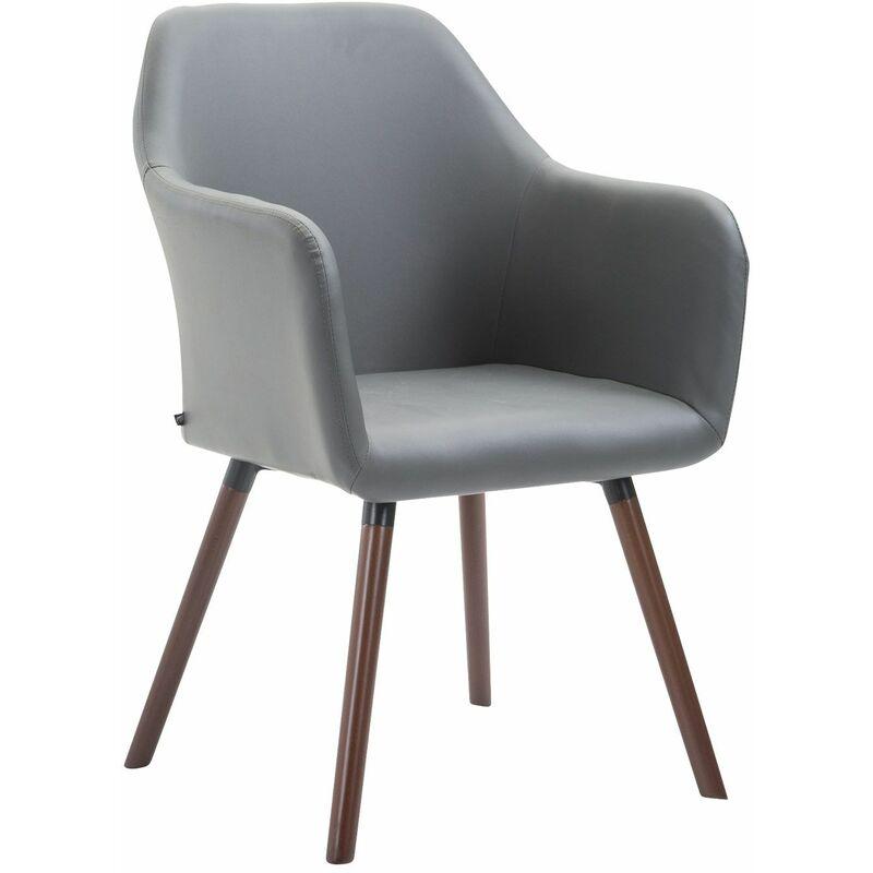 PAAL OFFICE FURNITURE Chaise de salle à manger Picard V2 similicuir gris Noix (chêne) - PAAL