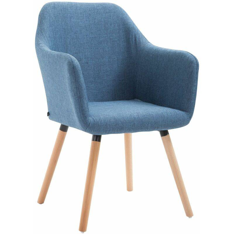 PAAL OFFICE FURNITURE Chaise de salle à manger Picard V2 tissu bleu Nature - PAAL OFFICE