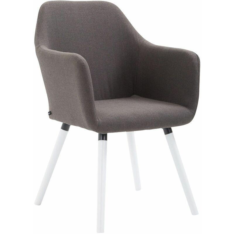 PAAL OFFICE FURNITURE Chaise de salle à manger Picard V2 tissu gris foncé Blanc - PAAL OFFICE
