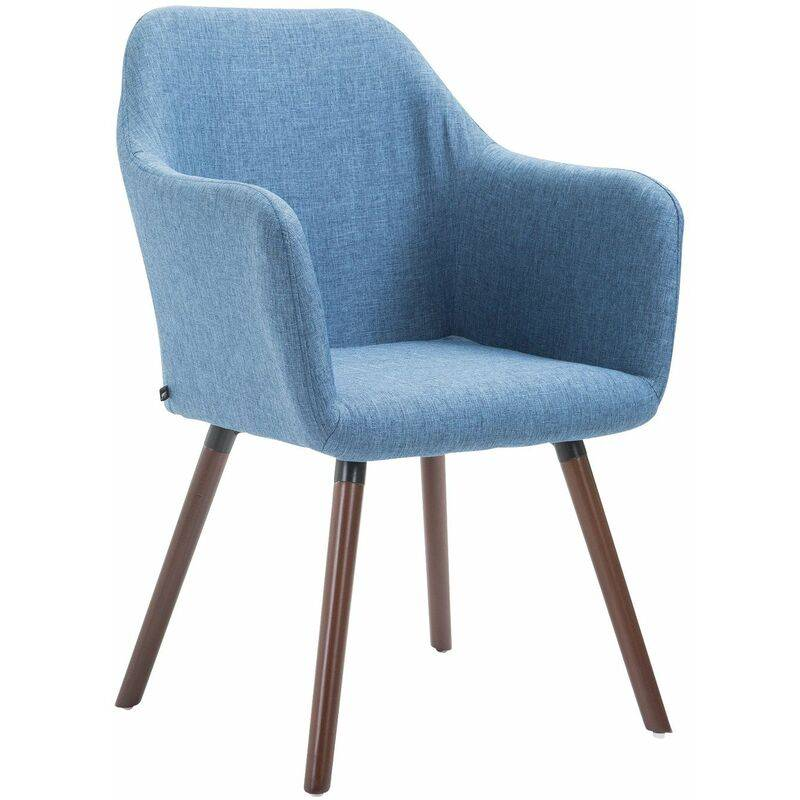 PAAL OFFICE FURNITURE Chaise de salle à manger Picard V2 tissu bleu Noix (chêne) - PAAL