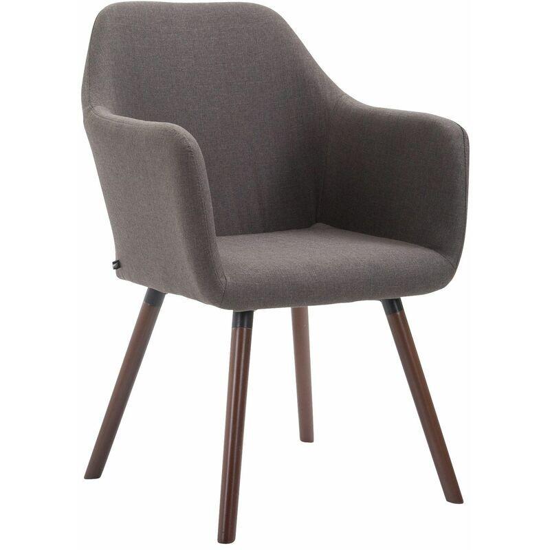 PAAL OFFICE FURNITURE Chaise de salle à manger Picard V2 tissu gris foncé Noix (chêne) - PAAL