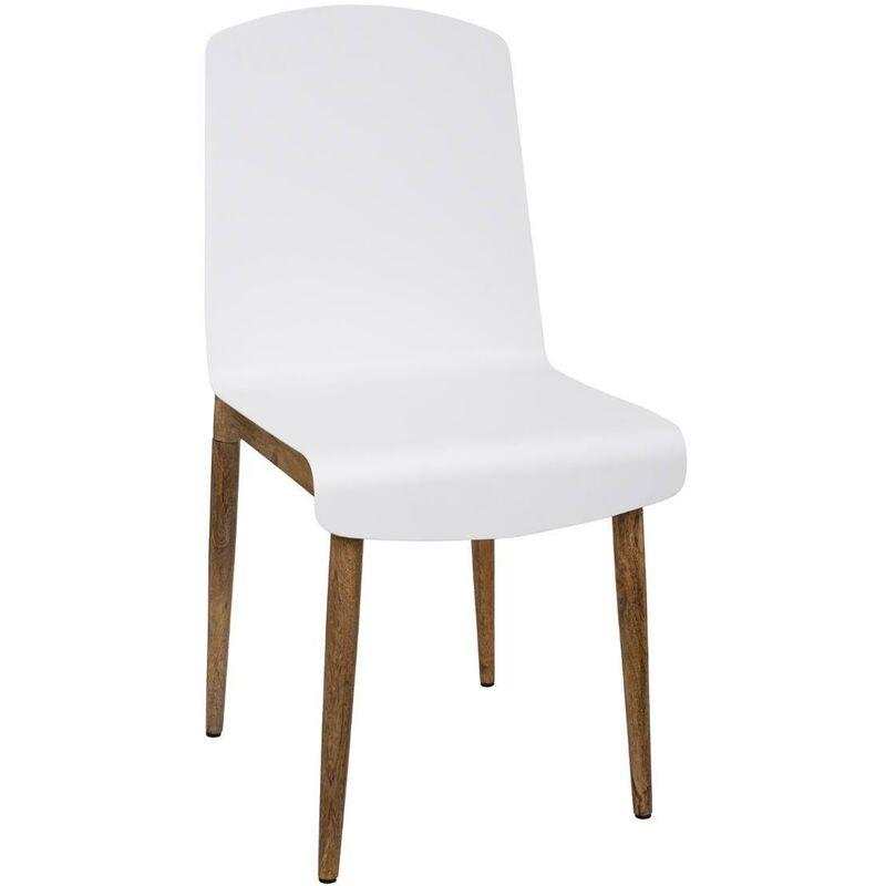 ATMOSPHERA, CRÉATEUR D'INTÉRIEUR Chaise métal Color blanc - Blanc