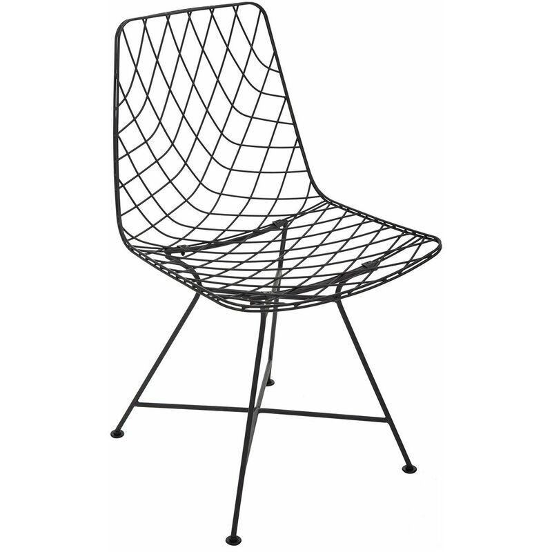 ATMOSPHERA, CRÉATEUR D'INTÉRIEUR Chaise métal filaire Archi - Noir