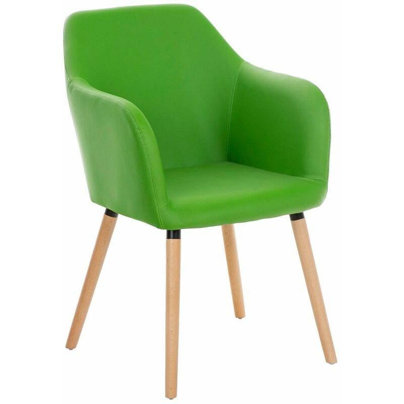 PAAL OFFICE FURNITURE Chaise visiteur Picard similicuir vert - PAAL OFFICE FURNITURE
