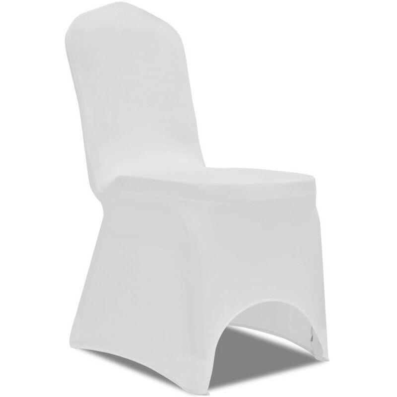 Hommoo Housse de chaise extensible 100 pcs Blanc HDV17736