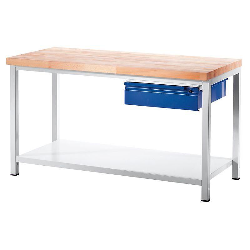 RAU Etabli, stable - 1 tiroir taille L, 1 tablette en tôle d'acier