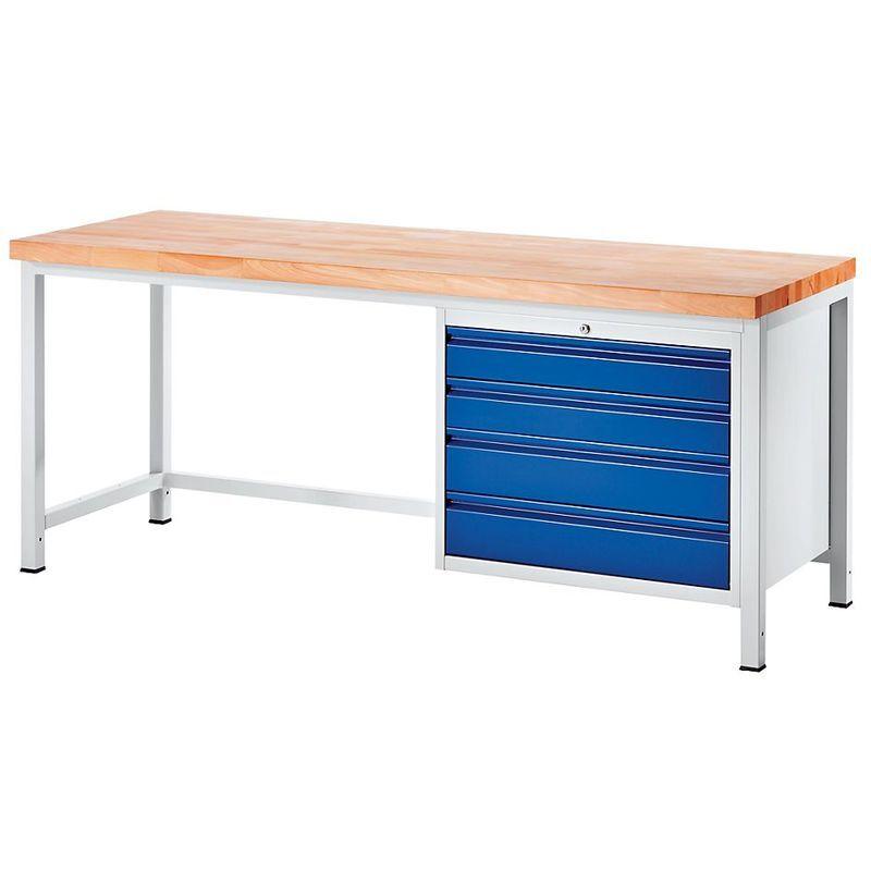 RAU Etabli, stable - 4 tiroirs taille XL - profondeur 900 mm, largeur 1000