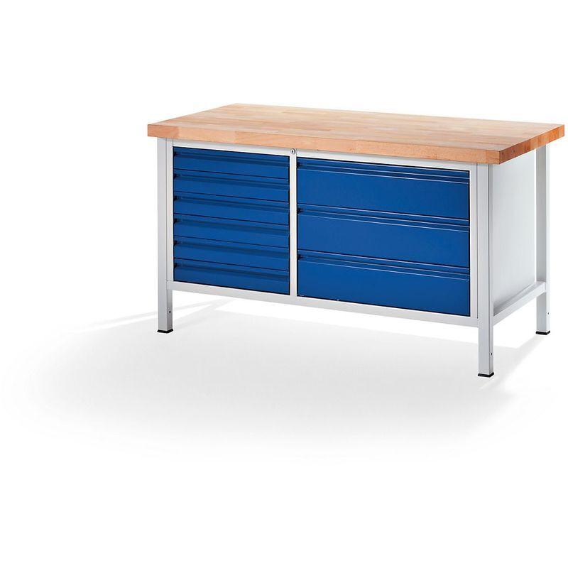 RAU Etabli, stable - 6 tiroirs taille L, 3 tiroirs taille XXL - profondeur