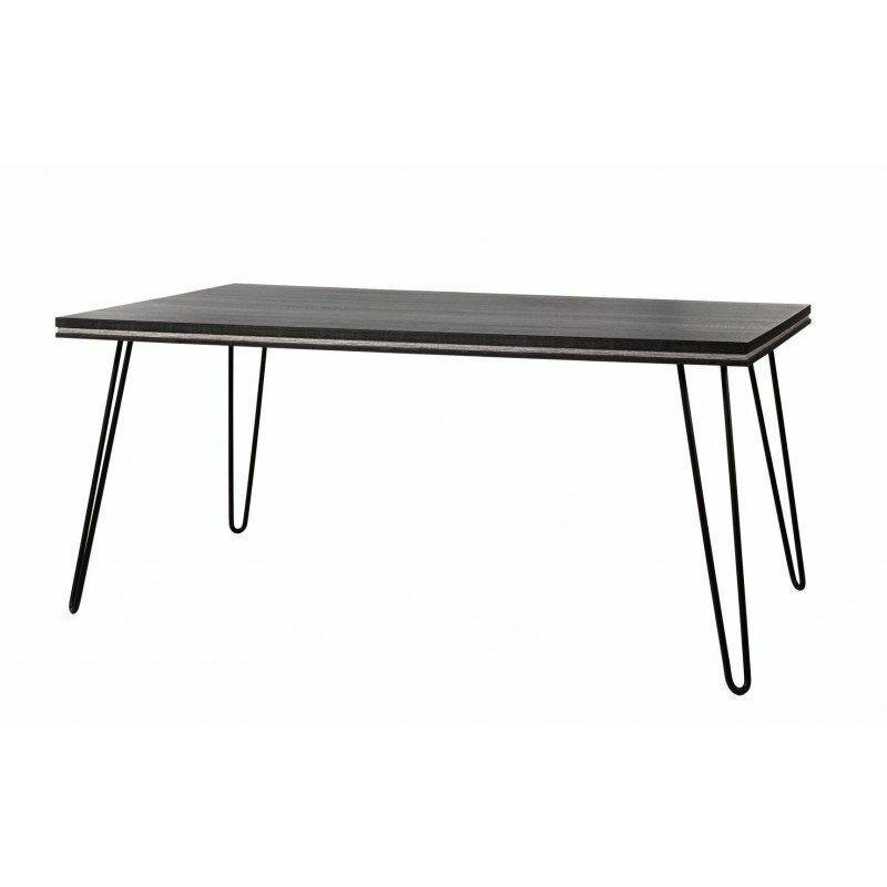 Vivabita - Table de salle à manger industrielle chêne gris/cendre