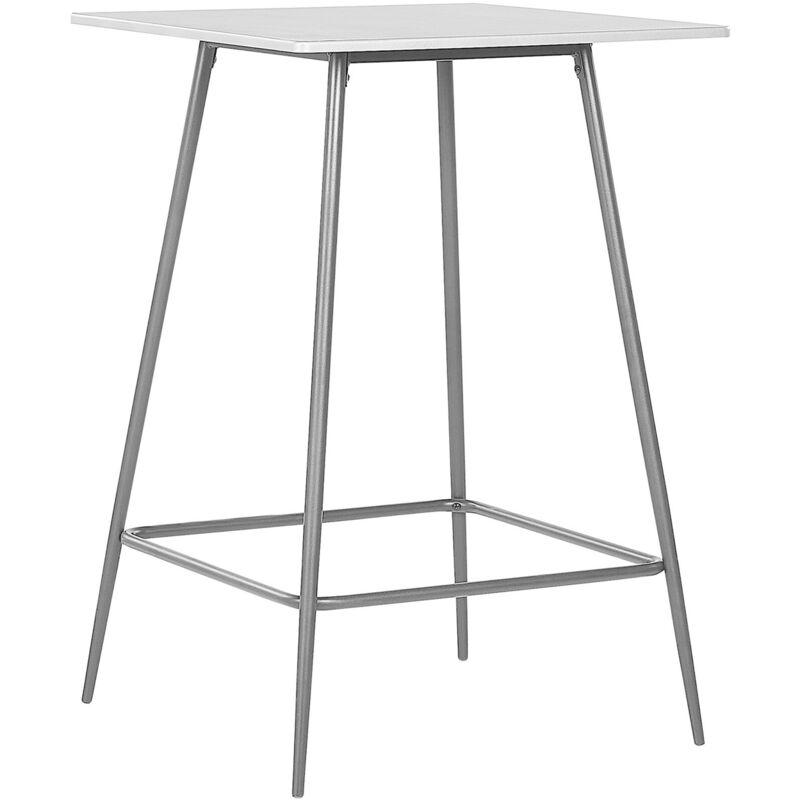 Beliani - Table mange debout grise et noire 70 x 70 VELTA