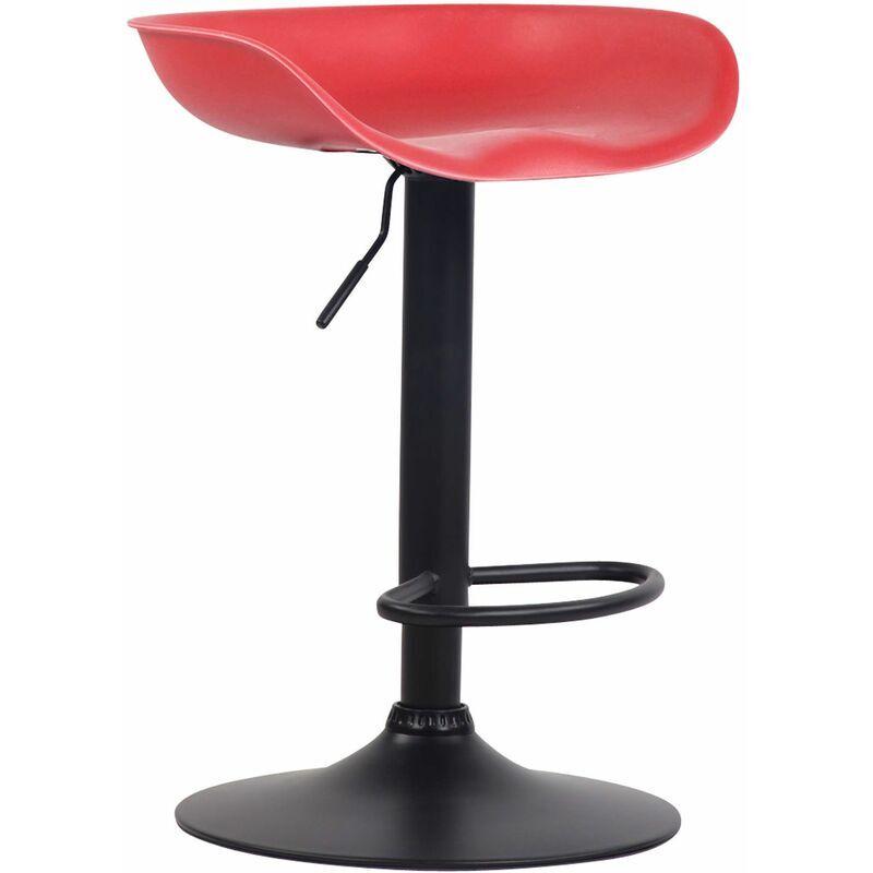 CLP Tabouret de bar Anaheim avec assise en plastique et Pied Tulipe rouge
