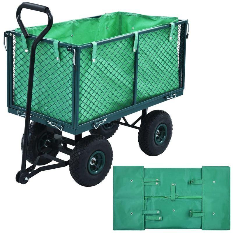 TOPDEAL VDTD06523_FR Bâche de chariot de jardin Vert Tissu - Topdeal