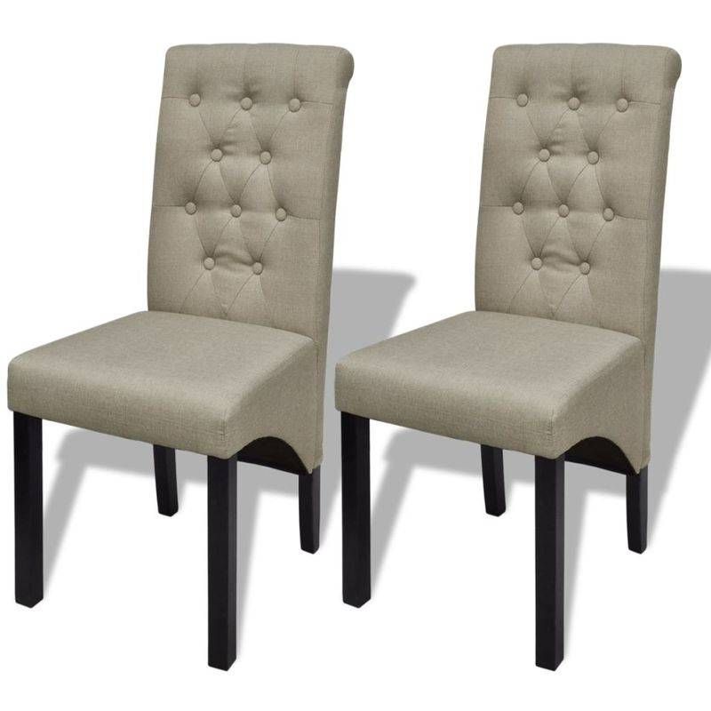 Topdeal VDTD08255_FR Chaises de salle à manger 2 pcs Beige Tissu
