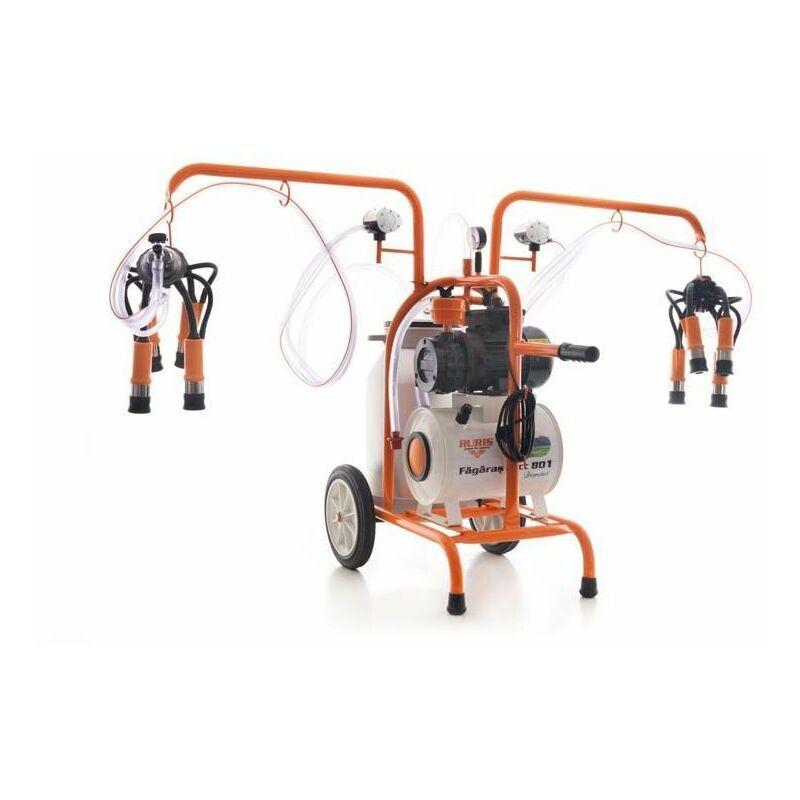 RURIS Trayeuse électrique 550 W 2 postes sur roues cuve alu 40 litres Lact801