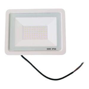 SILAMP Projecteur LED Extérieur 50W IP66 BLANC - Blanc Neutre 4000K - 5500K - Publicité