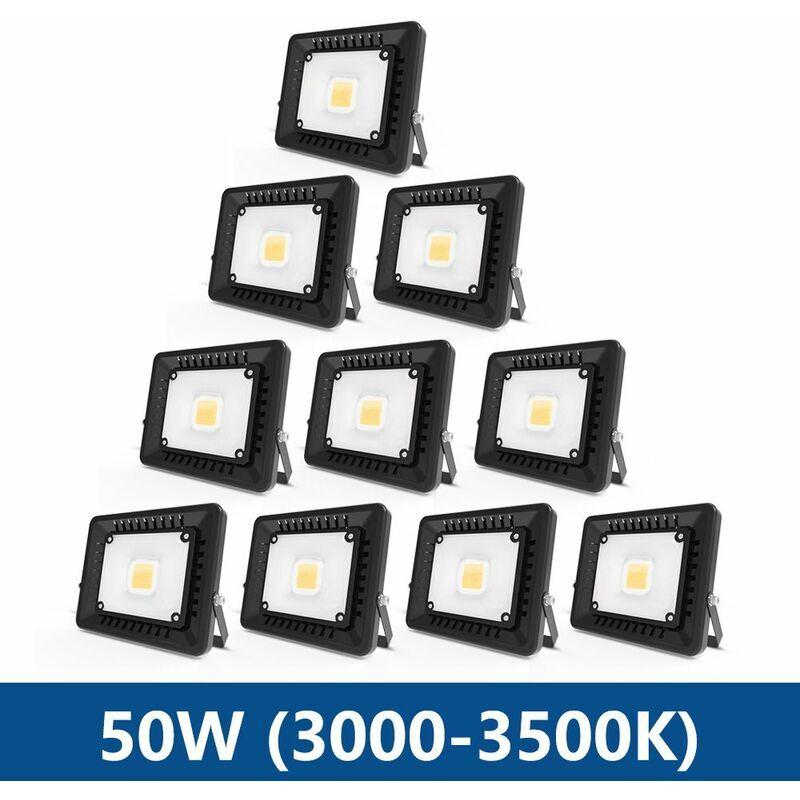 ANTEN 10× 50W Projecteur LED IP65 Étanche Ultra-Mince Spot LED Léger Puissant