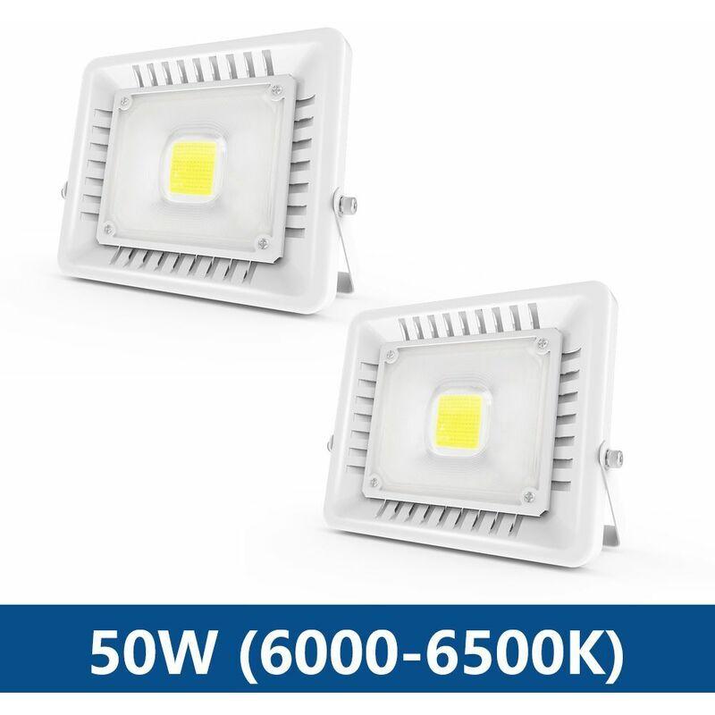 ANTEN 2× 50W Projecteur LED IP65 Étanche Ultra-Mince Spot LED Léger Puissant