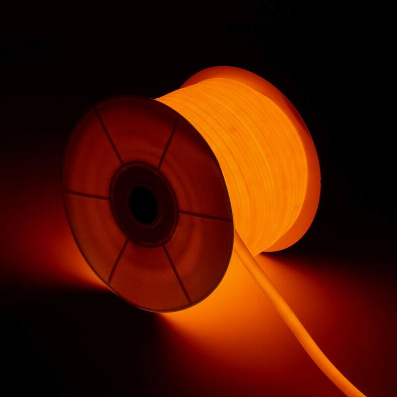 Ledkia - Bobine Néon LED Rond 360 Flexible 120LED/m Orange 50 Mètres