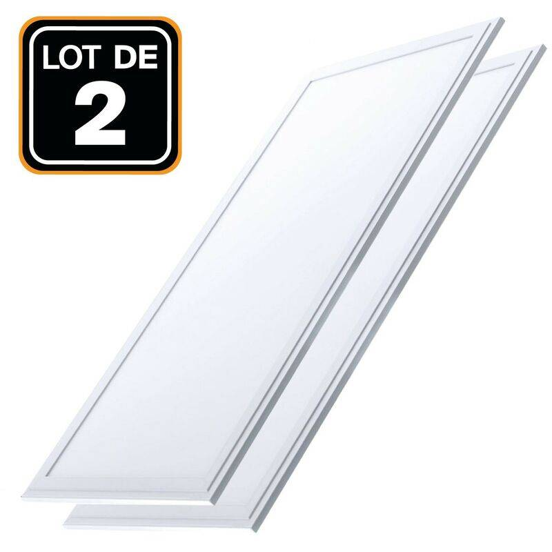EUROPALAMP Dalle LED 1200x300 40W lot de 2 pcs Blanc Froid 6000k Haute Luminosité