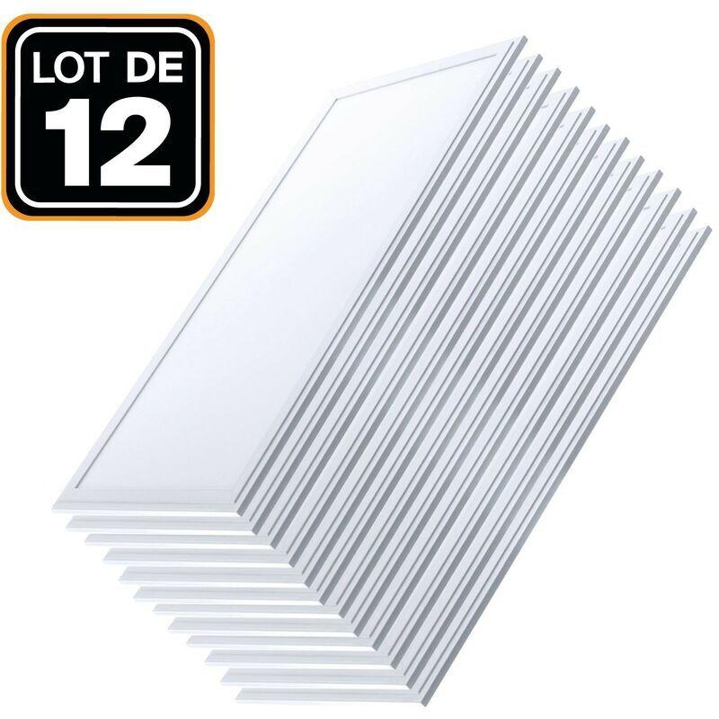 EUROPALAMP Dalle LED 1200x300 40W lot de 12 pcs Blanc Neutre 4000k Haute