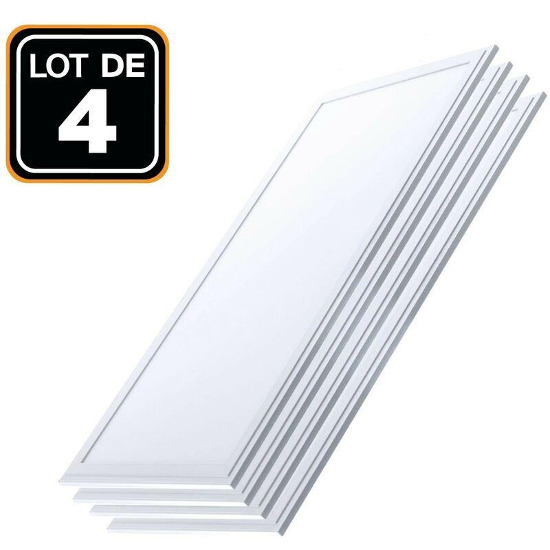 EUROPALAMP Dalle LED 1200x300 40W lot de 4 pcs Blanc Froid 6000k Haute Luminosité