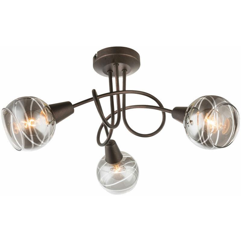GLOBO Plafonnier design LED bronze salon salle à manger éclairage spot en