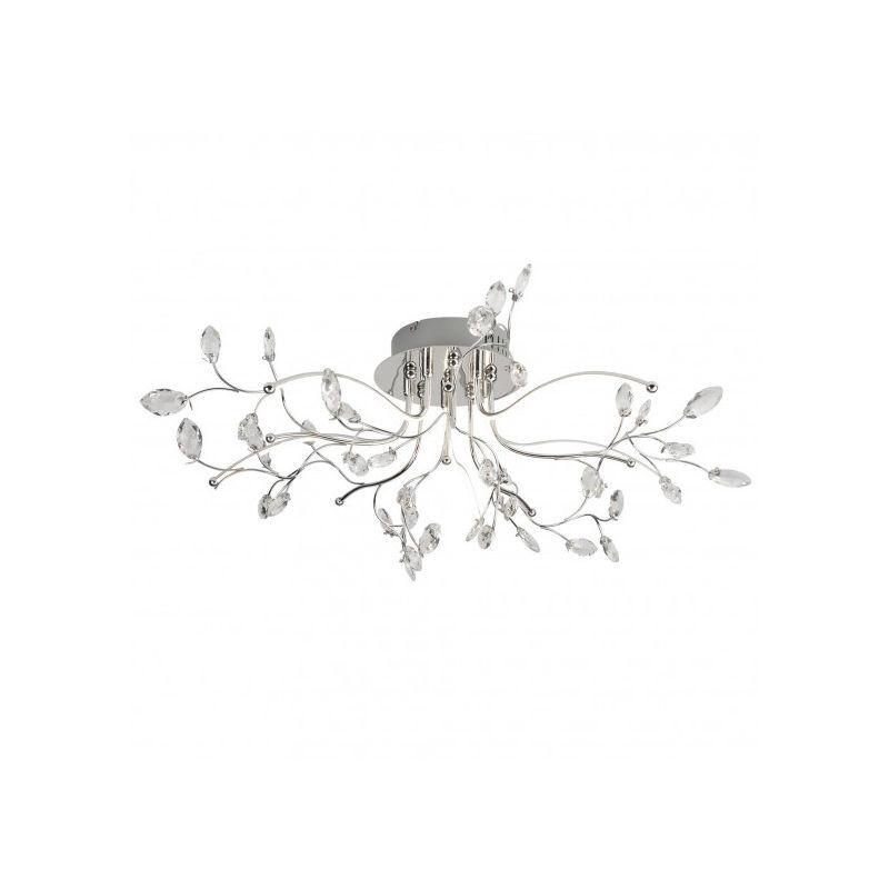 Searchlight - Plafonnier 73 cm Willow, en chrome et acrylique