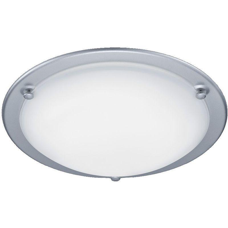 TRIO LEUCHTEN Éclairage plafonnier DEL 10 W lampe ronde métal verre titane luminaire
