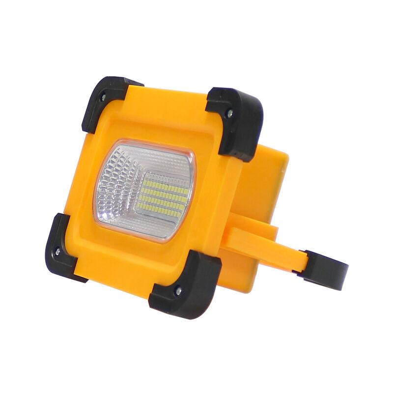 ILUMINASHOP Projecteur LED Solaire 30W Portable IP66 + Power Bank Blanc Froid 6000K