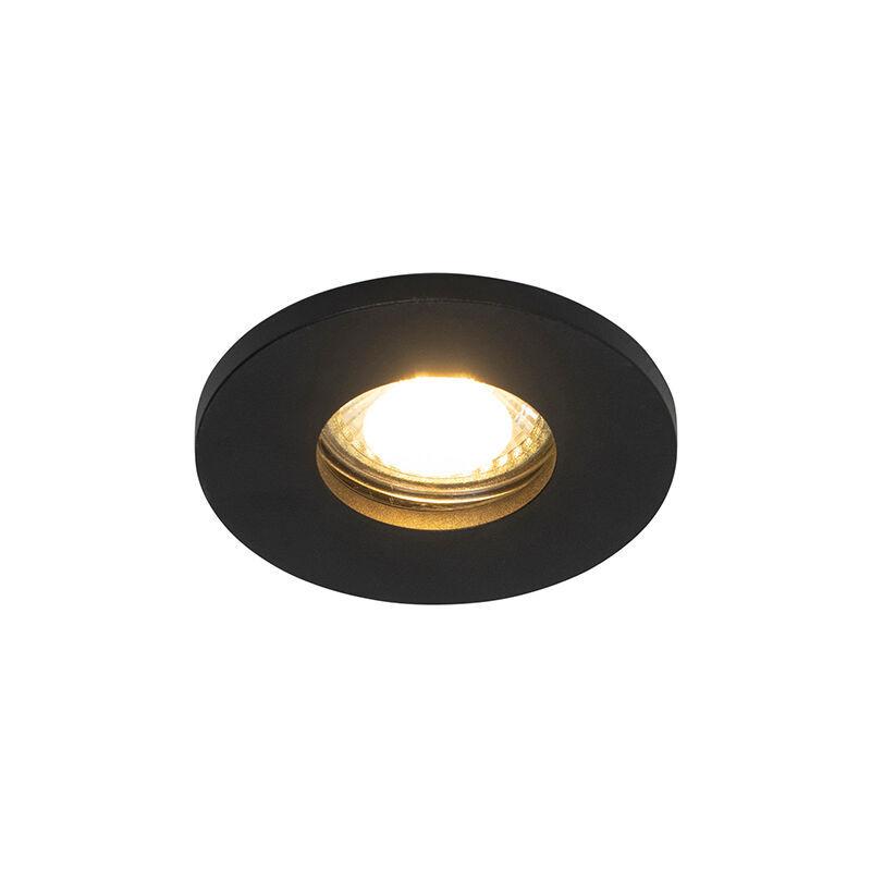 QAZQA Spot encastrable pour salle de bain Moderne noir IP54 - Shed Moderne