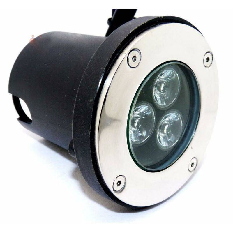 SILAMP Spot LED Encastrable Extérieur IP65 220V Sol 3W 80° - Blanc Froid 6000K