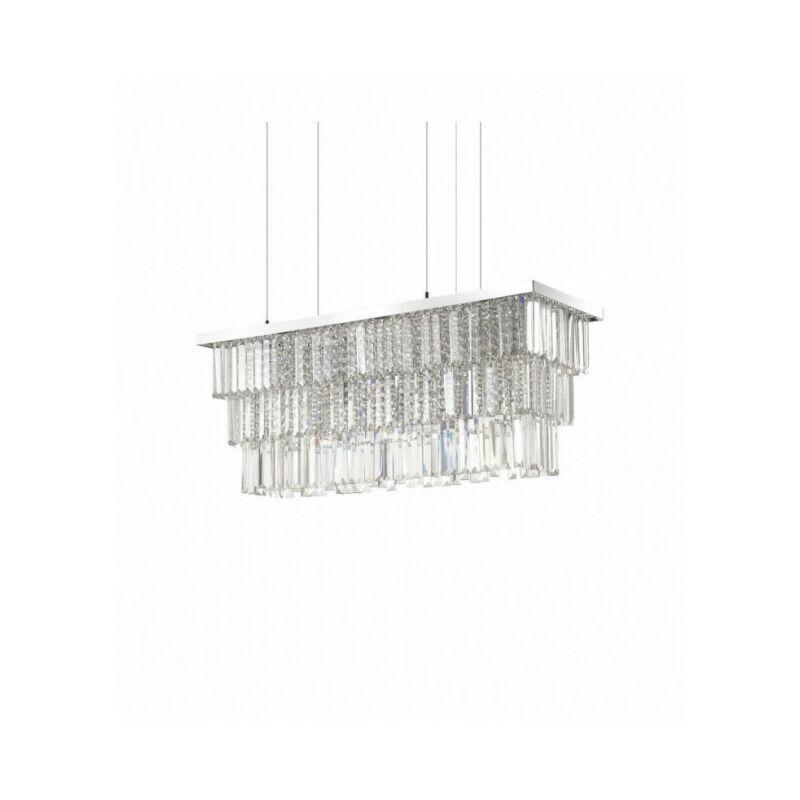 IDEAL LUX Suspension Chromée en cristal MARTINEZ 6 ampoules