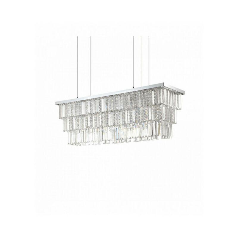 IDEAL LUX Suspension Chromée en cristal MARTINEZ 8 ampoules