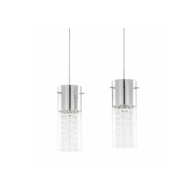 Italux - Suspension en cristal Marqu Chrome 2 ampoules