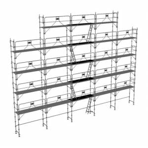 ECHAFAUDAGE DIRECT - MATISERE Echafaudage fixe de 180m² - Structure + Planchers - Version garde-corps - Publicité