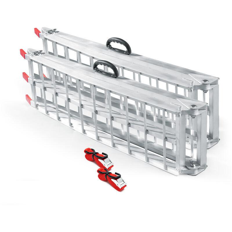 Wiltec - 2x Rampe de chargement Moto ATV pliable Aluminium Rail d'accès