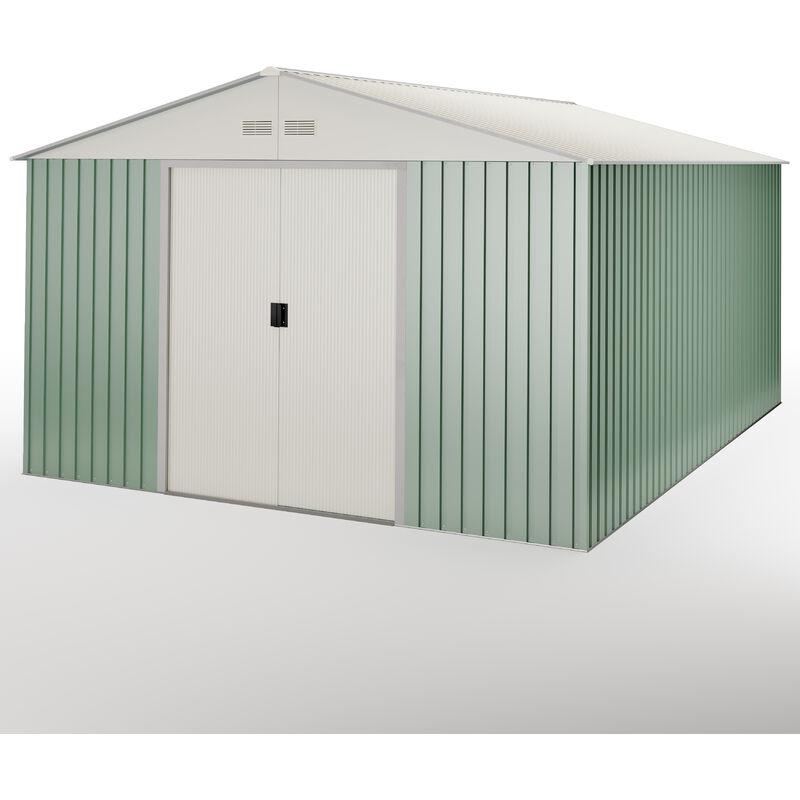 HOGGAR Abri de jardin en m�tal Anjala 15.5 m2 - Garantie 10 ans