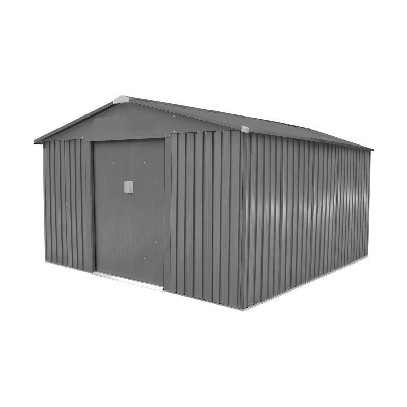 LA MAISON DU JARDIN Abri de jardin métal LMJ - 9,7 m² - Galvanisé à chaud - LA MAISON DU