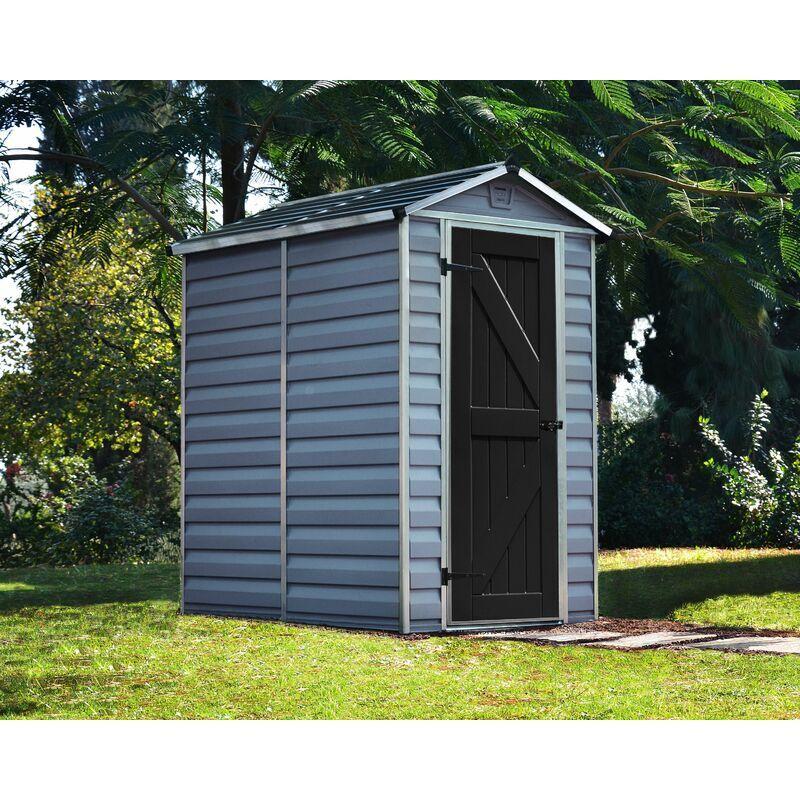Palram - Abri de jardin SKYLIGHT 4X6 couleur gris deco - 2,1m²